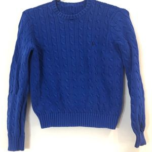 Ralph Lauren Cotton Cable Knit Crewneck